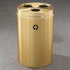 Glaro, Inc. RecyclePro Triple Stream 33 Gallon Multi Compartment Recycling Bin