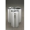 <strong>Glaro, Inc.</strong> RecyclePro Value Series Triple Units Recycling Receptacle