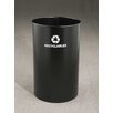 Glaro, Inc. RecyclePro Single Stream Open Top 36 Gallon Industrial Recycling Bin