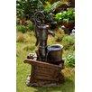 Fountain Cellar Polyresin and Fiberglass Water Pump and Pot Water Fountain