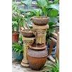 Fountain Cellar Classic Polyresin and Fiberglass 3-Pot and Column Water Fountain