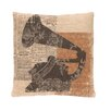 Heritage Lace Downton Abbey Silhouettes Gramophone Pillow Cover with Insert