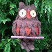 Mills Floral Wooly Hanging Owl Figurine (Set of 2)