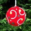 Mills Floral Felt Ball Ornament