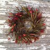 """Mills Floral 20"""" Grass Holiday Wreath"""