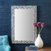 Two's Company Chevron Bone Wall Mirror