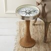 Two's Company Working Compass Accent Table with Rope Base