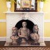 Two's Company 3 Piece Roman Bust Stand Set