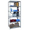 "Hallowell Hi-Tech Medium-Duty Open Type 87"" H 6 Shelf Shelving Unit"