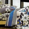 LJ Home Rosewood Reversible 3-Piece Duvet Cover Set