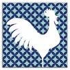 "Oscar & Izzy Folksy Love 6"" x 6"" Glossy Decorative Tile in Doodle-Do Navy Right"