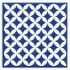 "Oscar & Izzy Folksy Love 6"" x 6"" Glossy  Decorative Tile in Needle Point Blue"