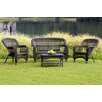 Tortuga Outdoor Portside 4 Piece Lounge Seating Group with Cushions