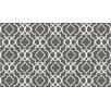 STA Elements Trellis Cotton Gray/White Indoor/Outdoor Area Rug