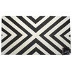 STA Elements Striped Angle Tapestry Dark Black/White Area Rug