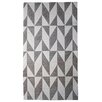 STA Elements Triangular Pattern Tapestry Black & White Area Rug