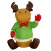 <strong>Christmas Inflatable Sitting Reindeer Decoration</strong> by BZB Goods
