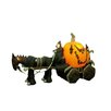 11.5' Long Halloween Inflatable Skeleton Ghost Driving Carriage