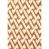 Jaipur Rugs Barcelona Orange/Ivory Geometric Indoor/Outdoor Area Rug