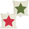 One Bella Casa Holiday Chevron Star Reversible Pillow