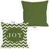 One Bella Casa Joy Chevron Stripe Pillow