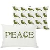 One Bella Casa Holiday Peace Reversible Pillow