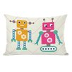 One Bella Casa Robots and Chevrons Pillow