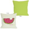 One Bella Casa Summer Yum Watermelon Pillow