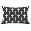 One Bella Casa All Over Cross Print Pillow
