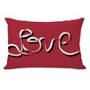 One Bella Casa Hand Painted love Pillow