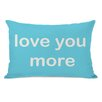 One Bella Casa Love You Lots/Love You More Reversible Pillow