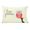One Bella Casa I Love You Owl Pillow