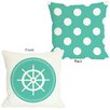 One Bella Casa Polka Dot Back Wheel Pillow