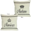 One Bella Casa Madame/Monsieur Reversible  Pillow