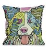 One Bella Casa Doggy Décor Colly Pillow