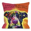 One Bella Casa Doggy Décor Love A Bull with Text Throw Pillow