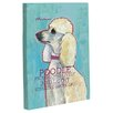 One Bella Casa Doggy Decor Poodle 2 Graphic Art on Canvas