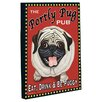 <strong>OneBellaCasa.com</strong> Doggy Decor Portly Pug Graphic Art on Canvas