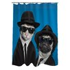 One Bella Casa Pets Rock Brothers Polyester Shower Curtain