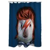 One Bella Casa Pets Rock Glam Rock Polyester Shower Curtain