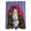 One Bella Casa Pets Rock Hippie Polyester Shower Curtain
