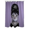 One Bella Casa Pets Rock Breakfast Polyester Shower Curtain