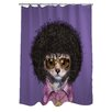 One Bella Casa Pets Rock Disco Polyester Shower Curtain