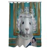 One Bella Casa Pets Rock HRH Polyester Shower Curtain
