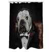 One Bella Casa Pets Rock Dog Barker Polyester Shower Curtain