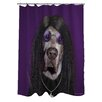 One Bella Casa Pets Rock Metal Polyester Shower Curtain
