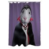 One Bella Casa Pets Rock Dracula Polyester Shower Curtain