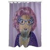 One Bella Casa Pets Rock Possum Polyester Shower Curtain