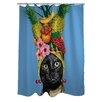 One Bella Casa Pets Rock Fruit Polyester Shower Curtain