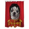 One Bella Casa Pets Rock Pop Polyester Shower Curtain